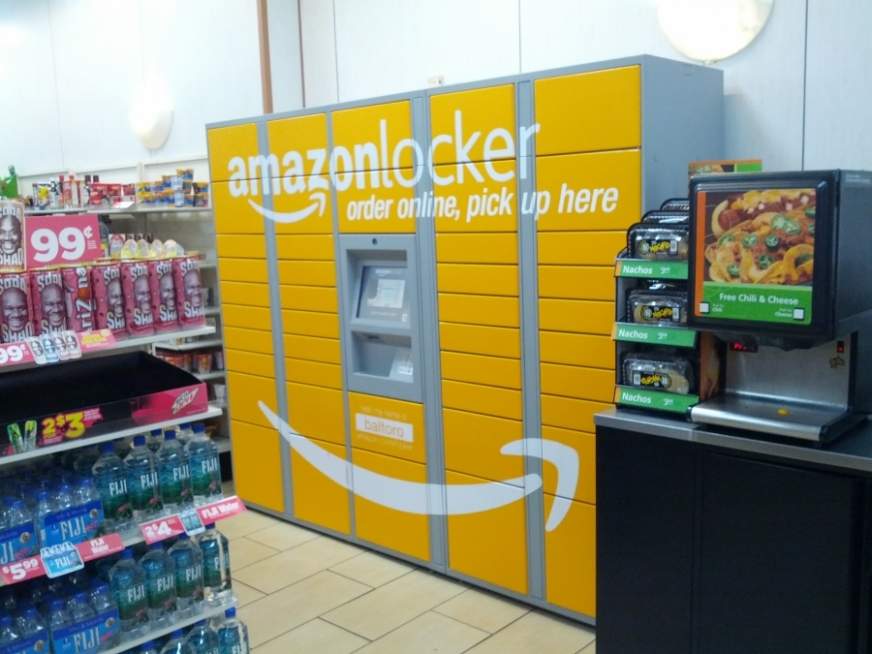 Amazon locker na nowojorskim Manhattanie