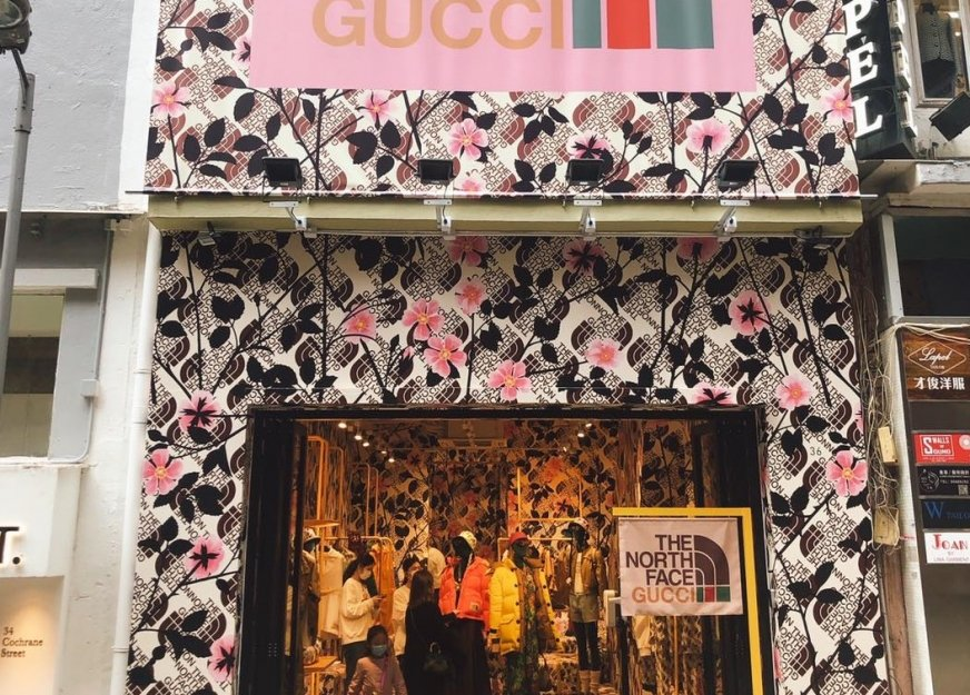 Pop-up store Gucci- The North Face